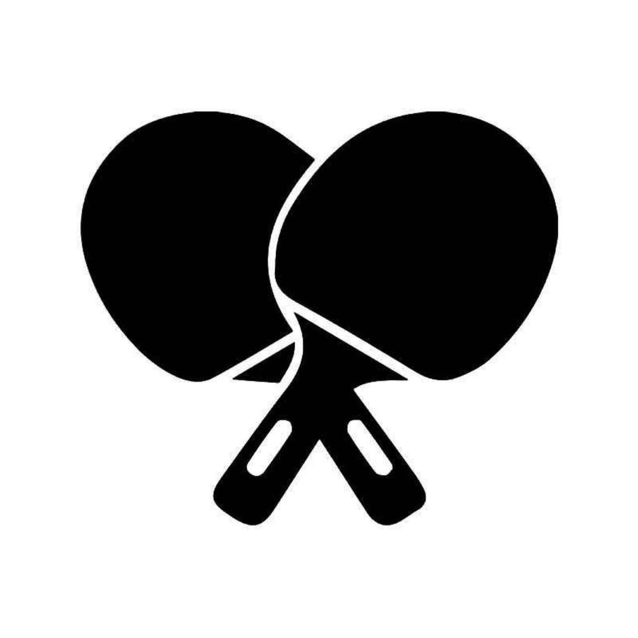 Table Tennis Ping Pong Paddles Vinyl Decal Sticker   Pinterest