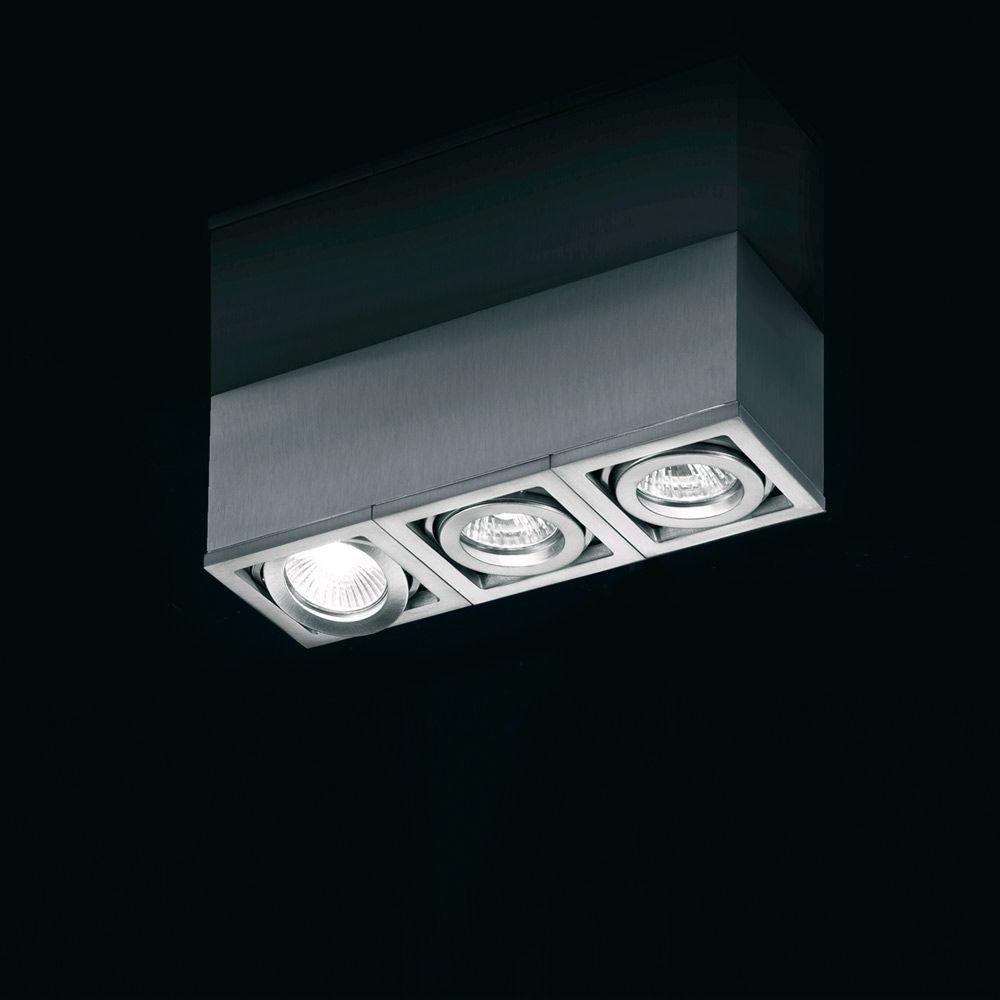 Paul Neuhaus 9975 55 Axena 3 Light Steel Ceiling Spotlight