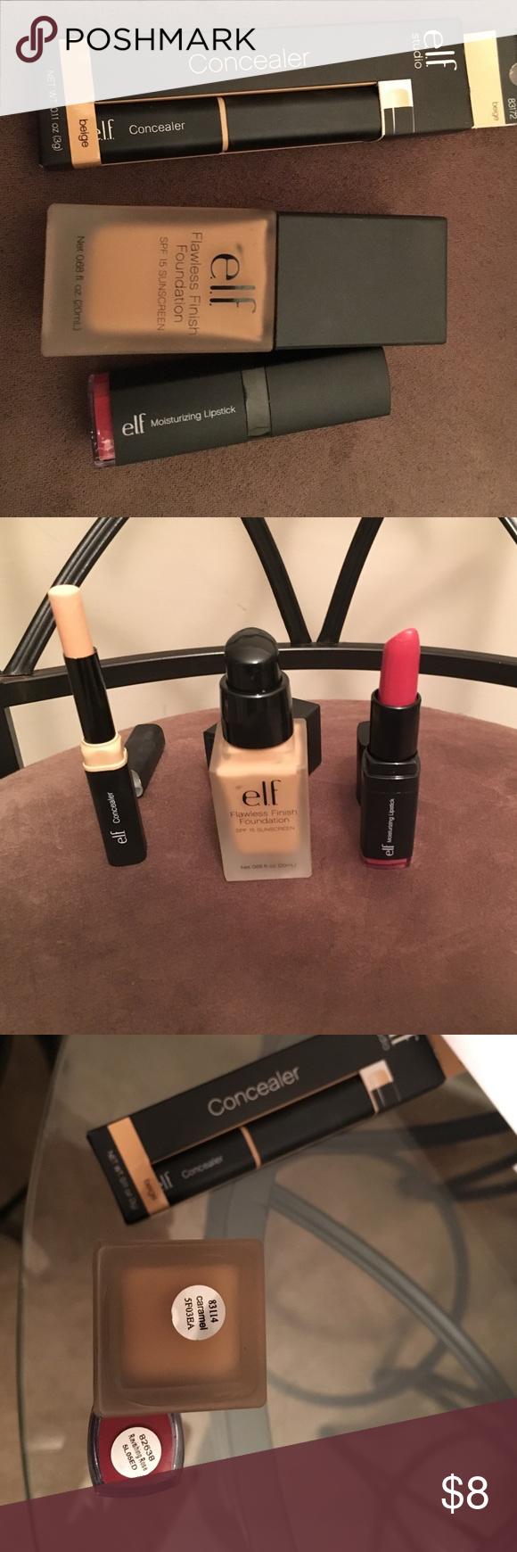 e.l.f foundation,concealer & moisturizing lip💄NEW
