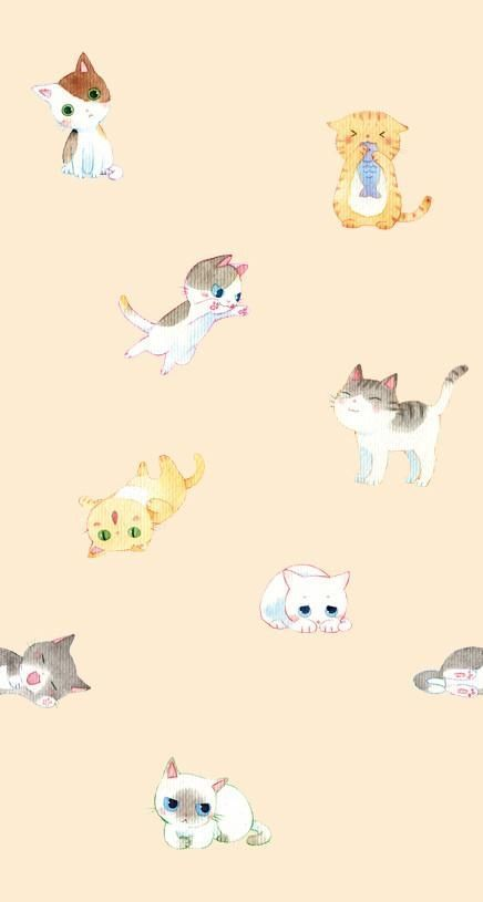 Motleycraft O Rama Cat Illustration Cat Art Cat Wallpaper