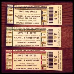 Diy Save The Date Concert Tickets Wedding Diy Invitations Std