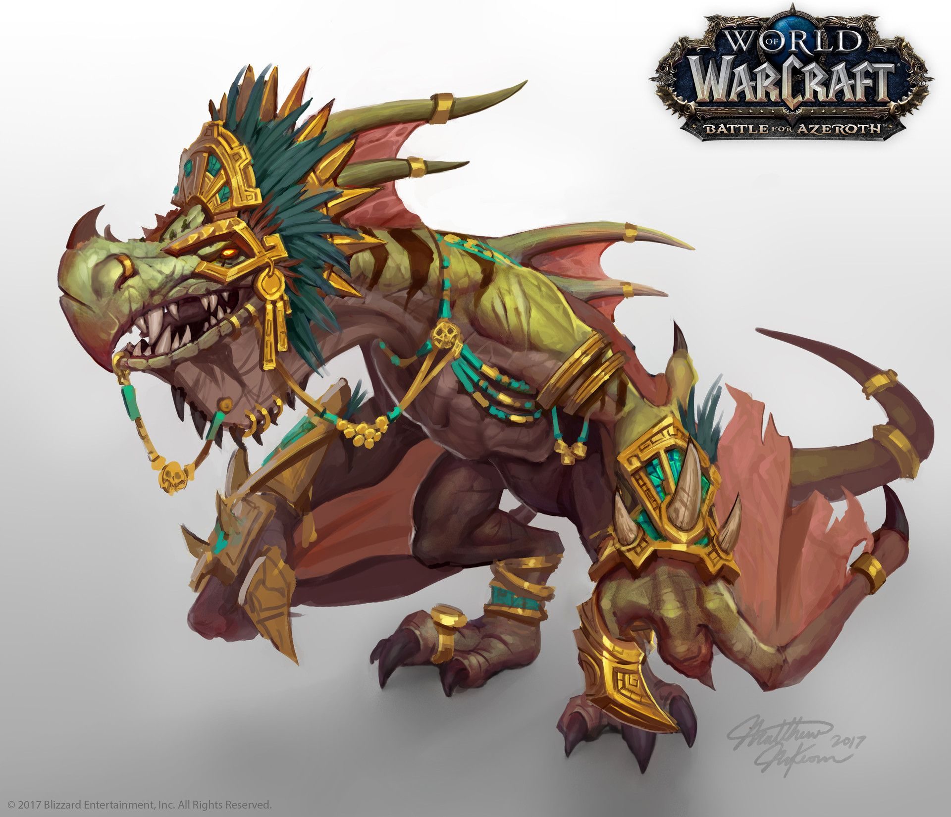Concept Art Of Pa Ku The Pterrordax Loa Shown At Blizzcon 2017 And On The Battle For Azeroth Artwork Page Here Htt World Of Warcraft Warcraft Warcraft Art