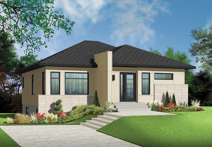 Contemporary-Modern House Plan with 1153 Square Feet and 2 Bedrooms
