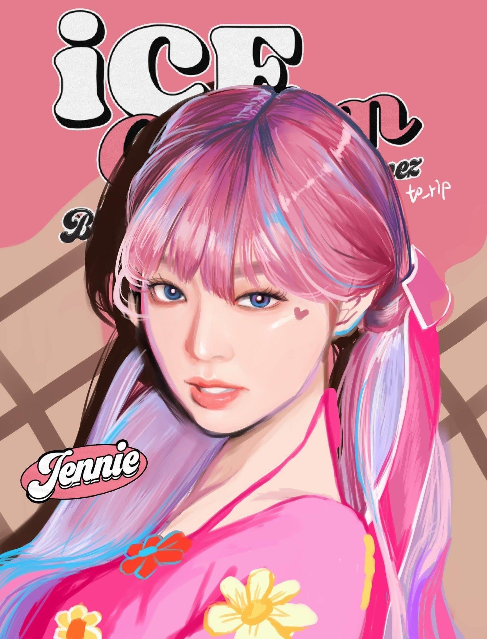 JENNIE Fanart in 2020 Blackpink jennie, Black pink kpop