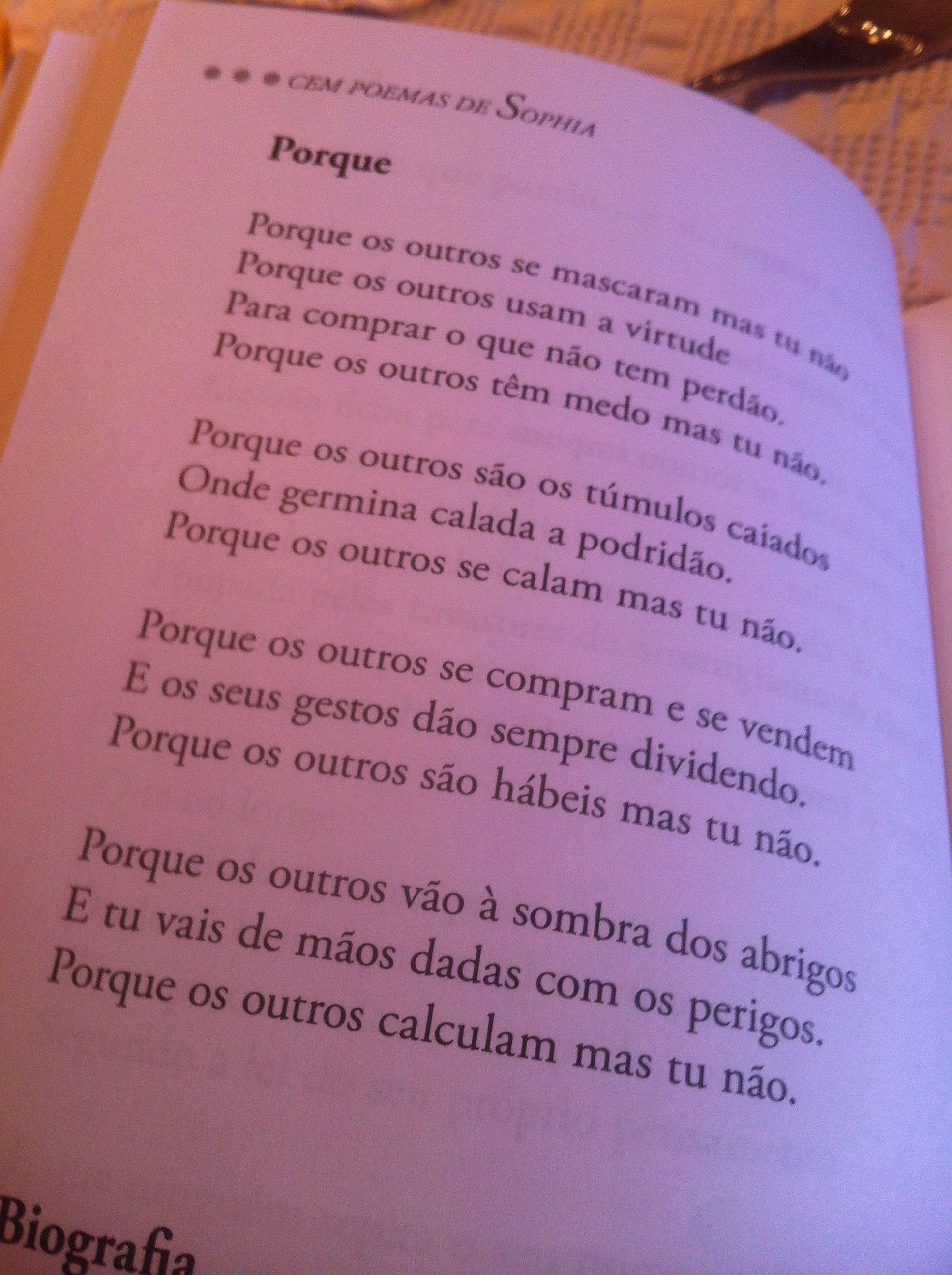 """Porque"" Sophia de Mello Breyner"