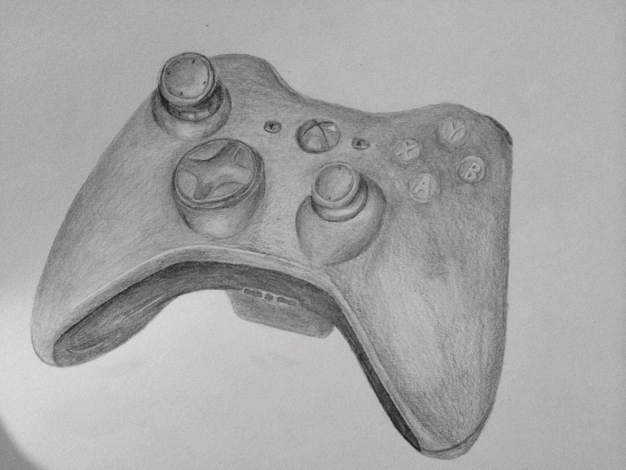 Xbox 360 Controller Drawing Drawing of a xb...