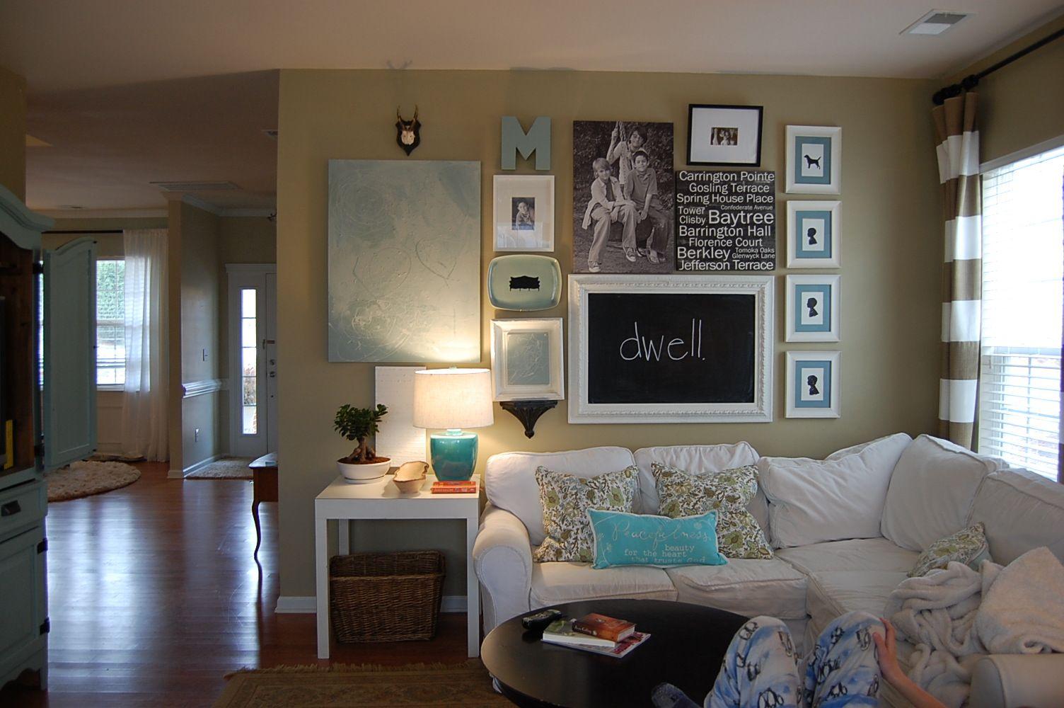 Perfect Comfortable Family Home Decor. Paint Color: Favorite Tan