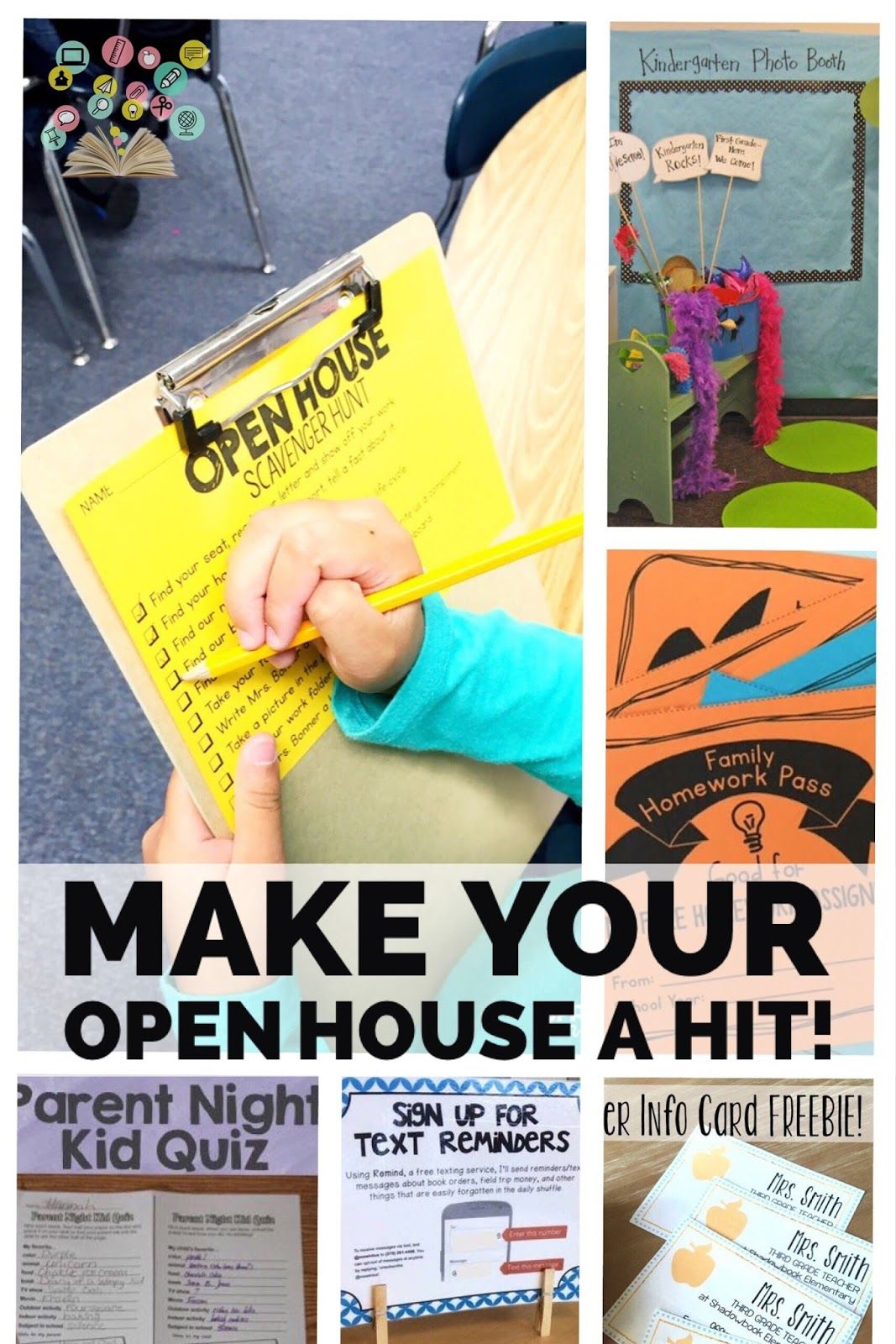 Loved The Open House Ideas. Info Card, The Family Homework Pass, Text  Reminders