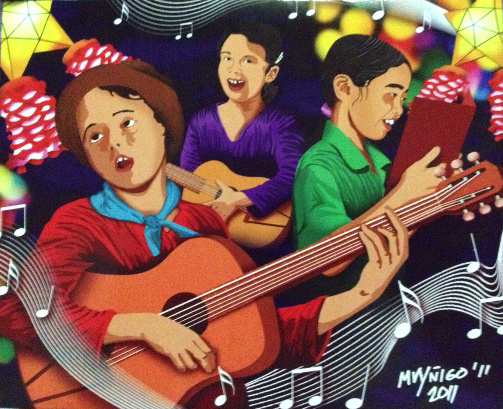 Pinoy Christmas Caroling Christmas In The Philippines Christmas Carol Philippine Art