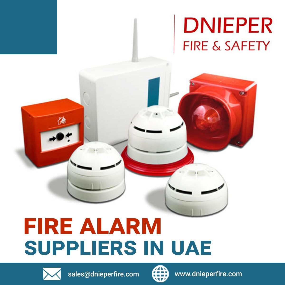 Dnieper ME is UAE based fire alarm supplier that offers