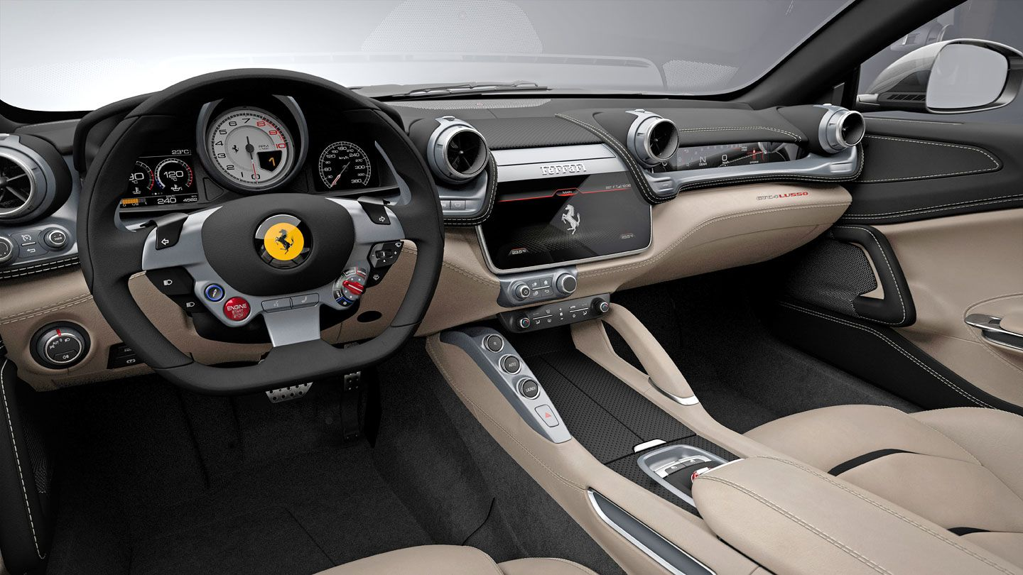 ferrari gtc4 lusso interior dashboard car interior design pinterest. Black Bedroom Furniture Sets. Home Design Ideas