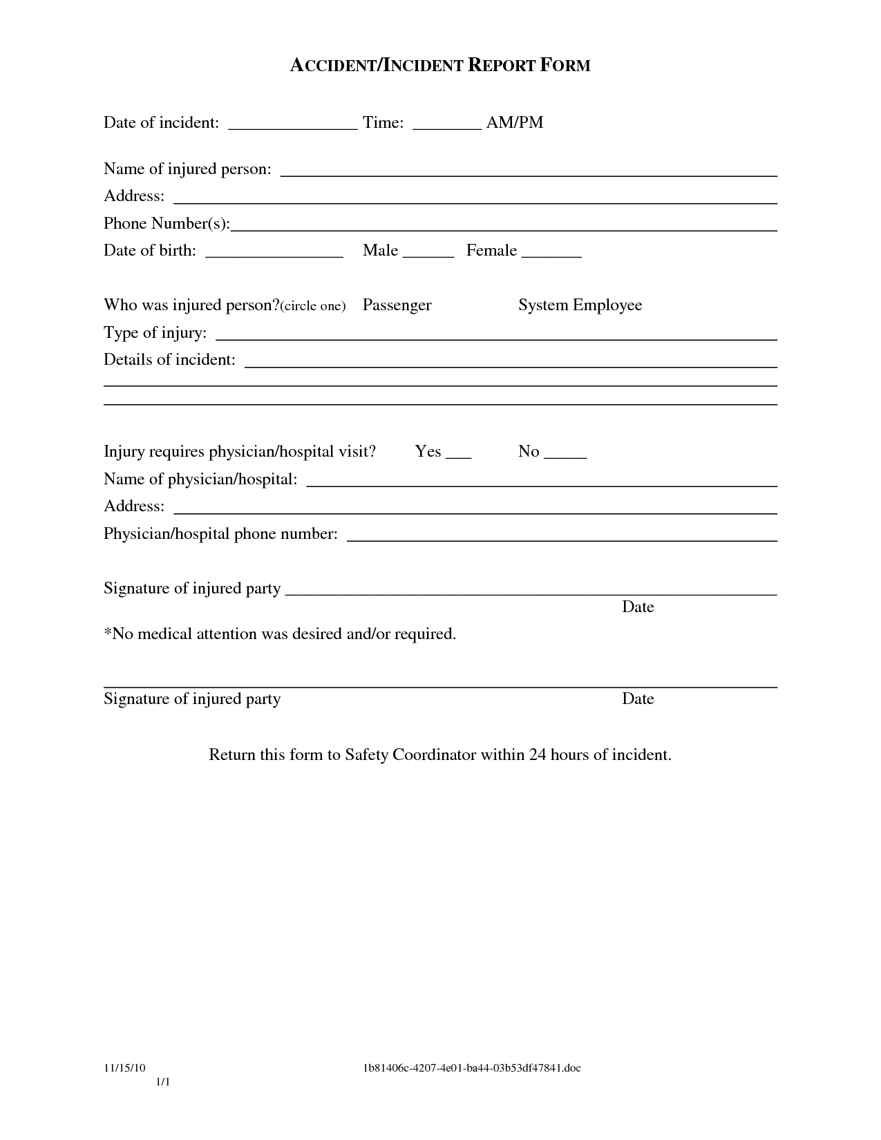 Sample Police Incident Report Template images - police report ...