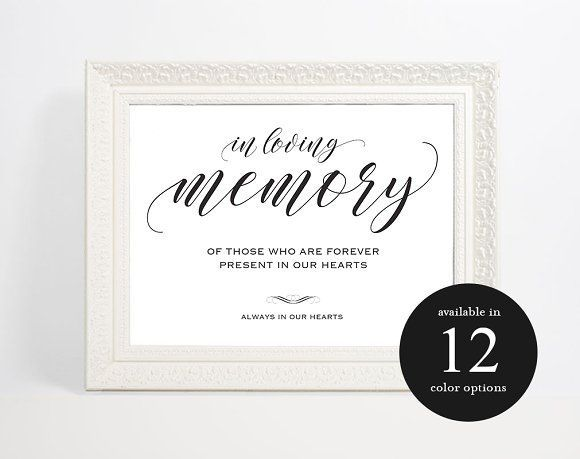 Great In Loving Memory Sign CreativeWork247 - Fonts, Graphics ...