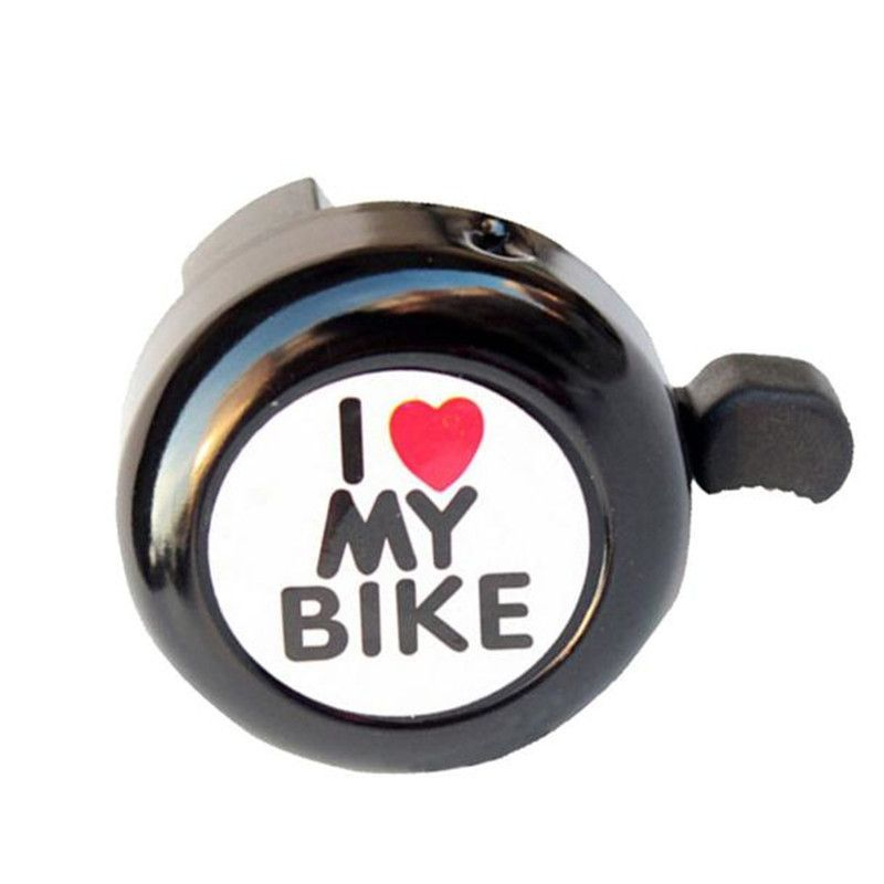 Cute Fashionable Bicycle Bell Heart Clear and loud sound Alarm Bike Metal Handlebar Horn 4 colors