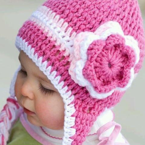 Gorro Tonos Rosa con Flor 🌸🌼  bebes  niñas  flor  rosa  crochet  colores   tachira  originales  regalos  diferentes  tejido  piccolina  ninas  bebe   ventas ... 21965e48976