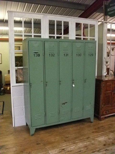 Captivating Metal Lockers, Ideal For Boys Bedroom. Industial Chic