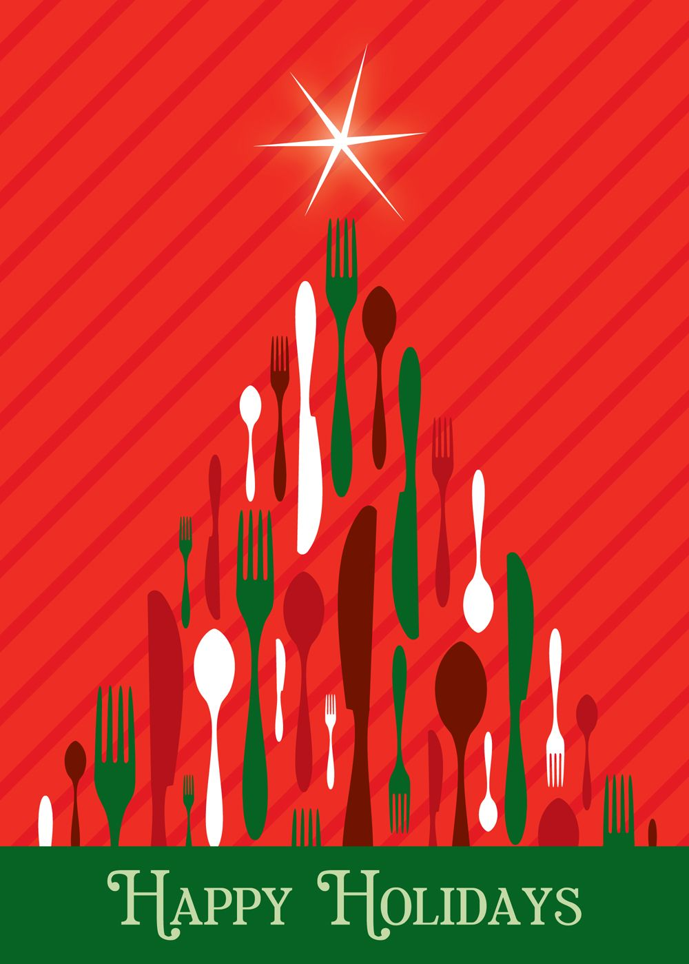 culinary tree holiday greeting cards discount greeting cards - Discount Christmas Cards