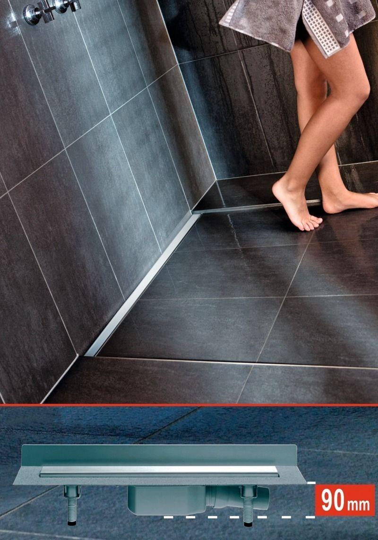SHK Profi | THEMEN | Sanitär & Wasser | Installationssysteme & -materialien | Flache Duschrinnen