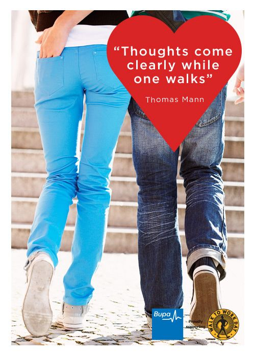Thoughts come clearly while one walks  - Thomas Mann #Quote