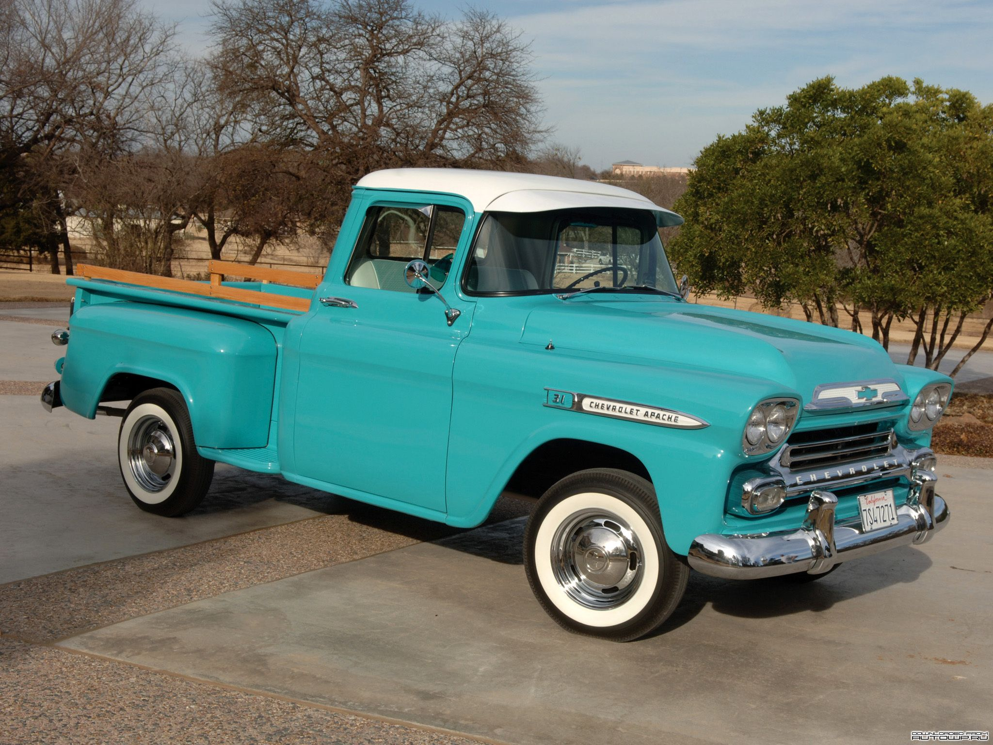 1959 chevrolet apache 3100 pickup trucks with hats