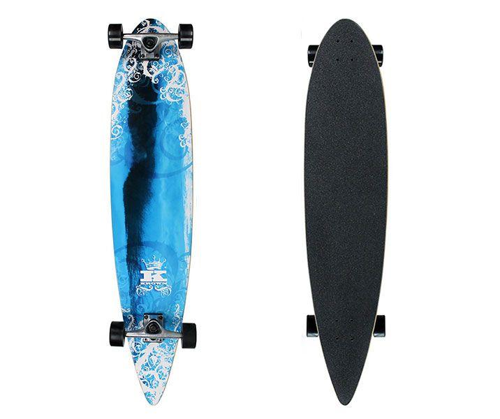 Krown Complete Pintail Skateboard Longboard Tidal Wave