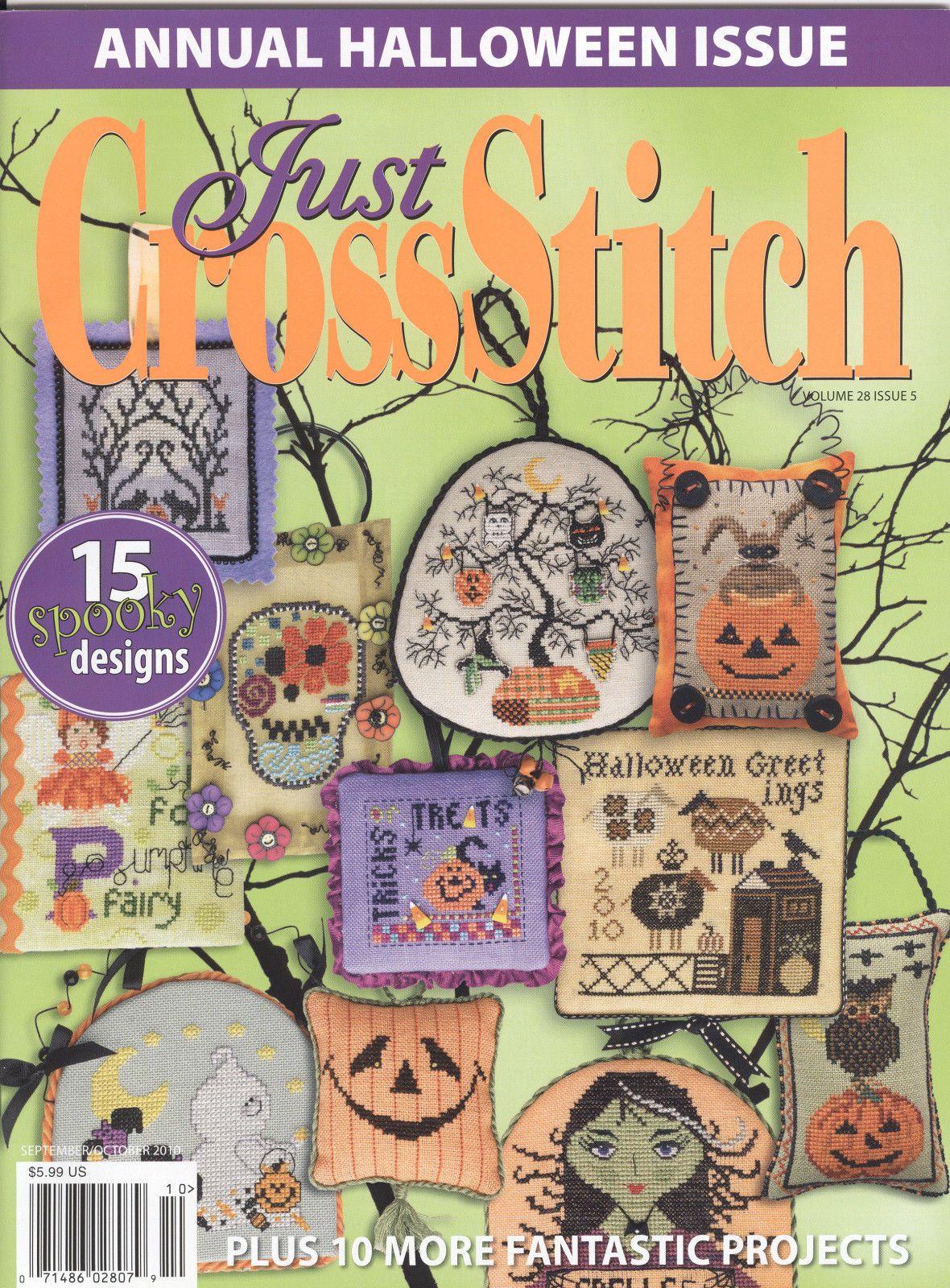 New, Unused U CHOOSE Just Cross Stitch Halloween Issues