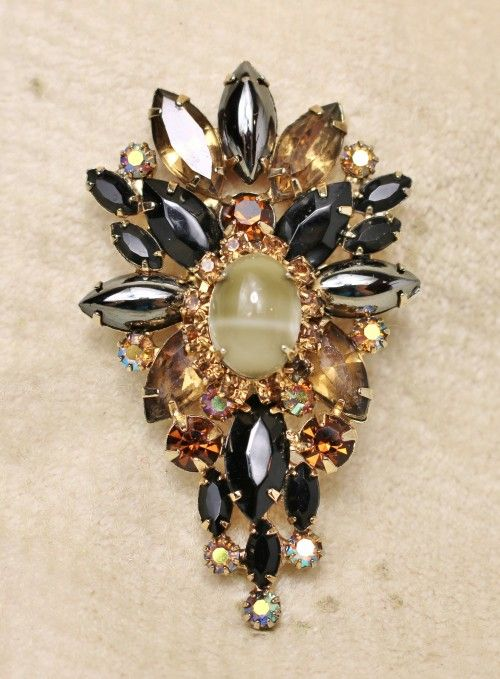 Vintage rhinestone brooches unsigned seems magnificent