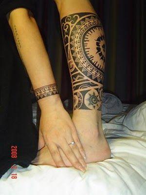 Tribal Aztec Leg Filipino Tattoos Maori Tattoo Tribal Tattoos