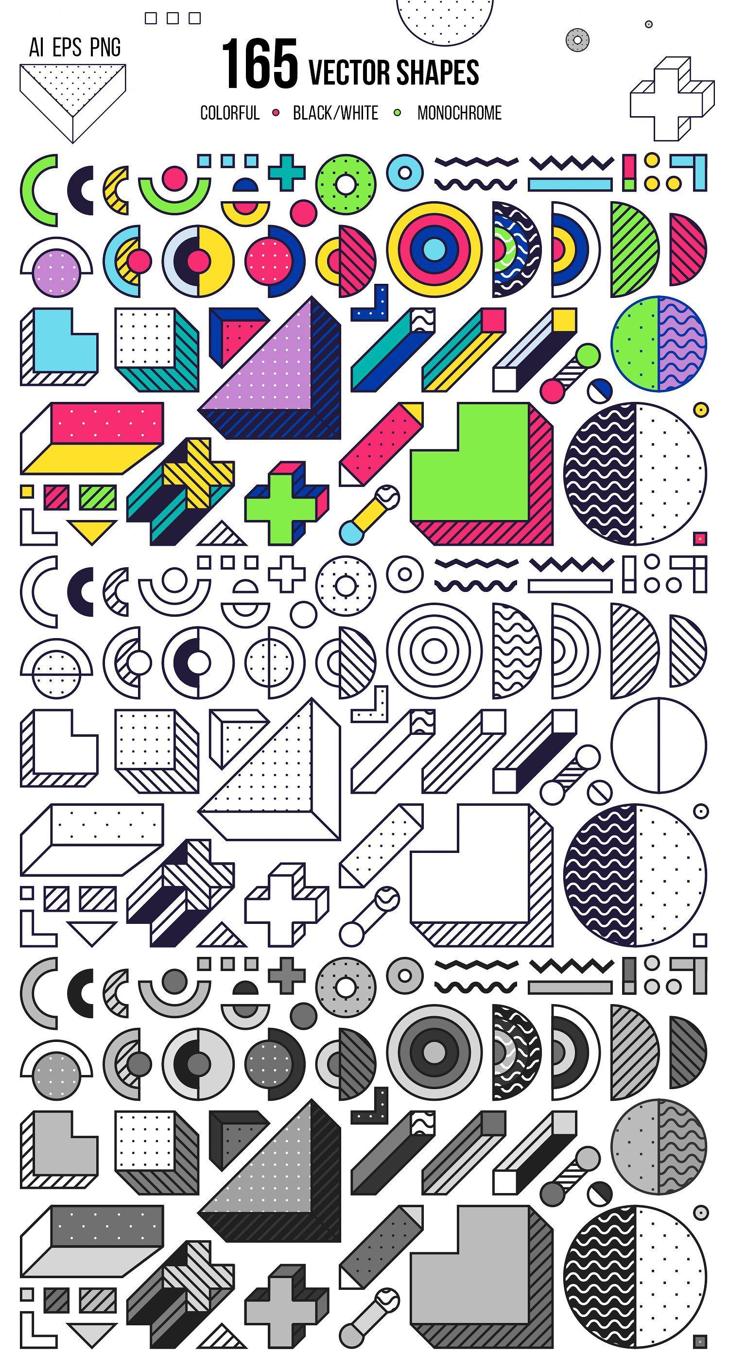 Elements Memphis Set! By Softulka On @creativemarket