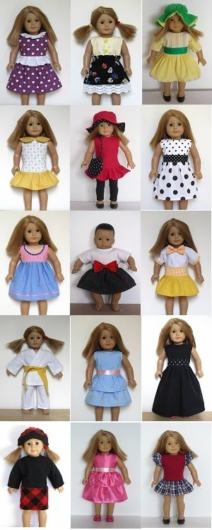 doll clothes sewing patterns to download from www.ik-patterns.com ...