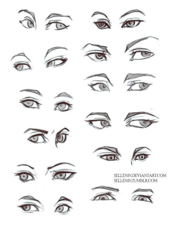 It's just a picture of Influential Different Types Of Eyes Drawing