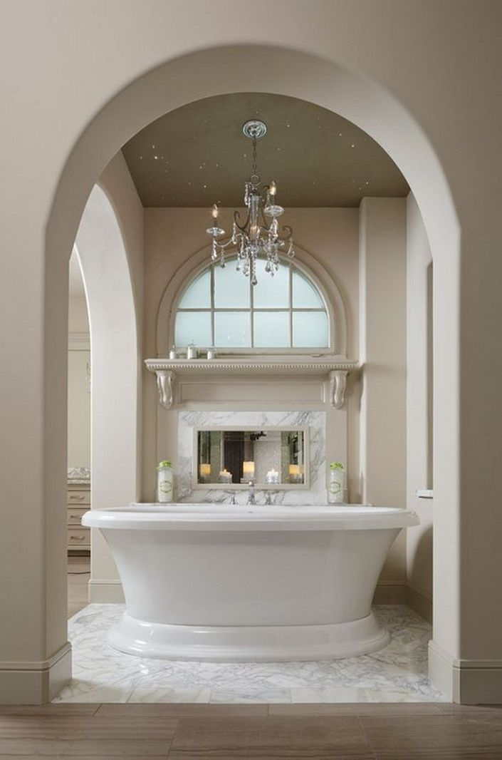 SW paint color, Sand Bar | Bathroom design luxury