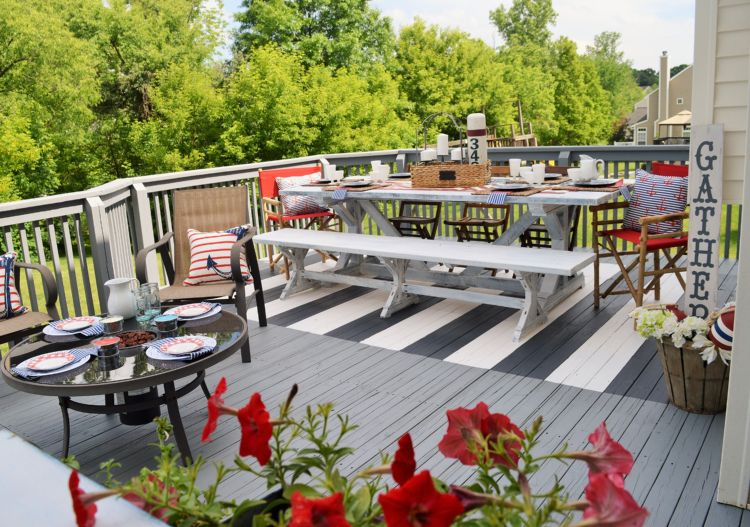 Terrassenboden Mit Farbe Gestalten So Malen Sie Einen Außenteppich