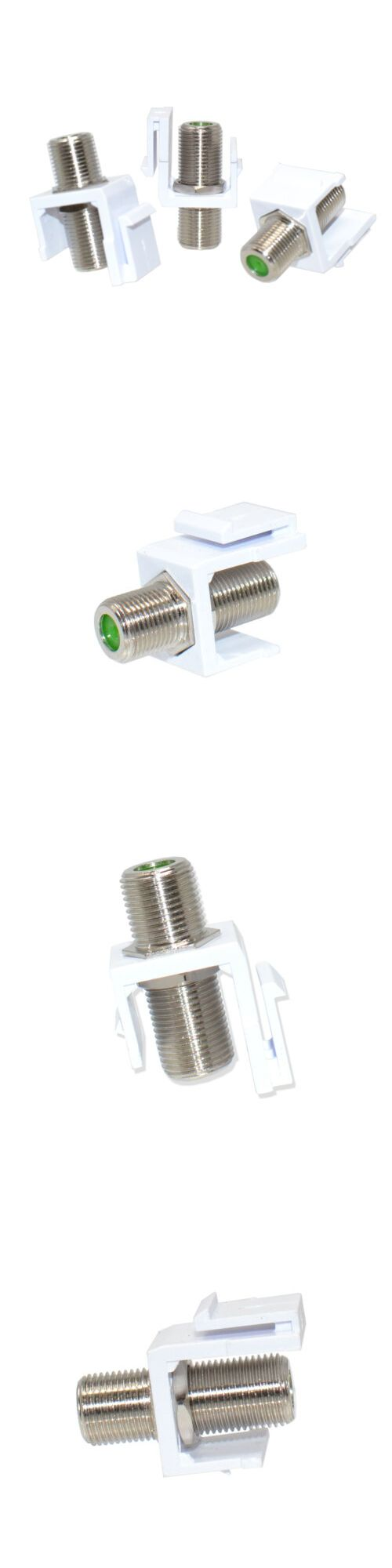50 Pcs 4G Technology Snap-In F-Type Insert Keystone Jack Connector Modular White