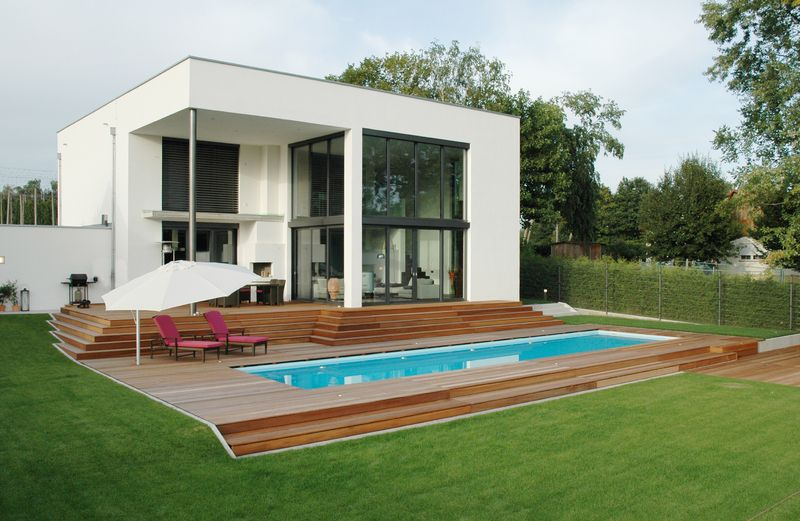 Exklusive Pools, Spas, Outdoor Swimmingpools, Architecture - schwimmbad im garten