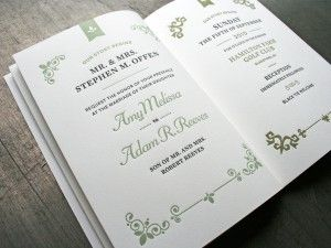 Book Style Wedding Invitation