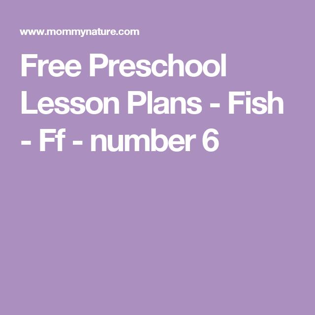 Free Preschool Lesson Plans - Fish - Ff - number 6