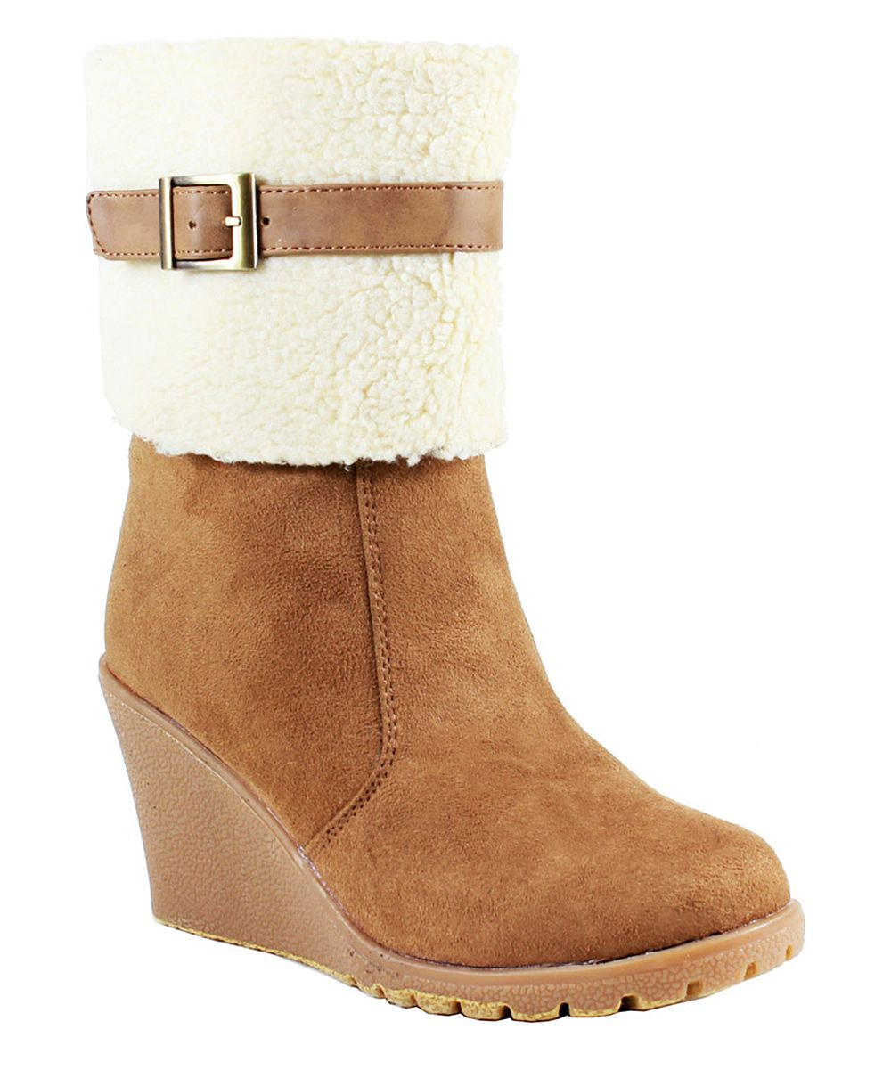 af36a3354a040 Reneeze Wedge Chestnut BootsBooties BootZulily Janice 7fybgY6