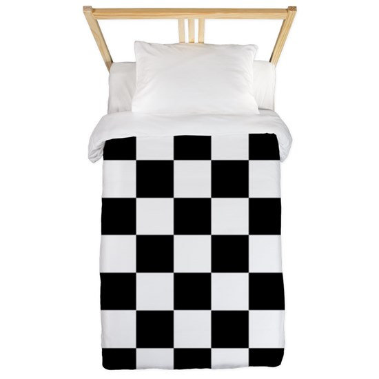 Checker Flag Race Twin Duvet Cover By Admin Cp11861778 Cafepress Duvet Covers Twin Twin Duvet Checkered Pattern