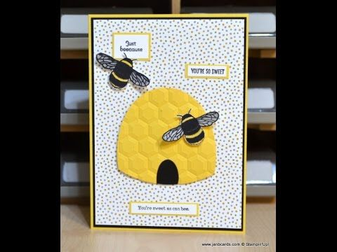 No.276 - Beehive Card - JanB UK Stampin' Up! Demonstrator Independent - YouTube