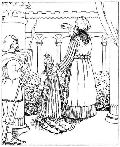 Joash The Boy King Bible Coloring Pages Sketch Coloring Page