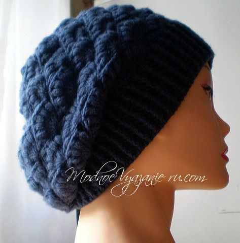 Шапочка *Шишки хмеля* вязаная крючком - Crochet Modnoe Vyazanie ...