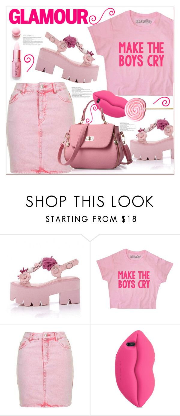 """Make The Boys Cry"" by queenvirgo on Polyvore featuring Topshop, MAC Cosmetics and STELLA McCARTNEY"