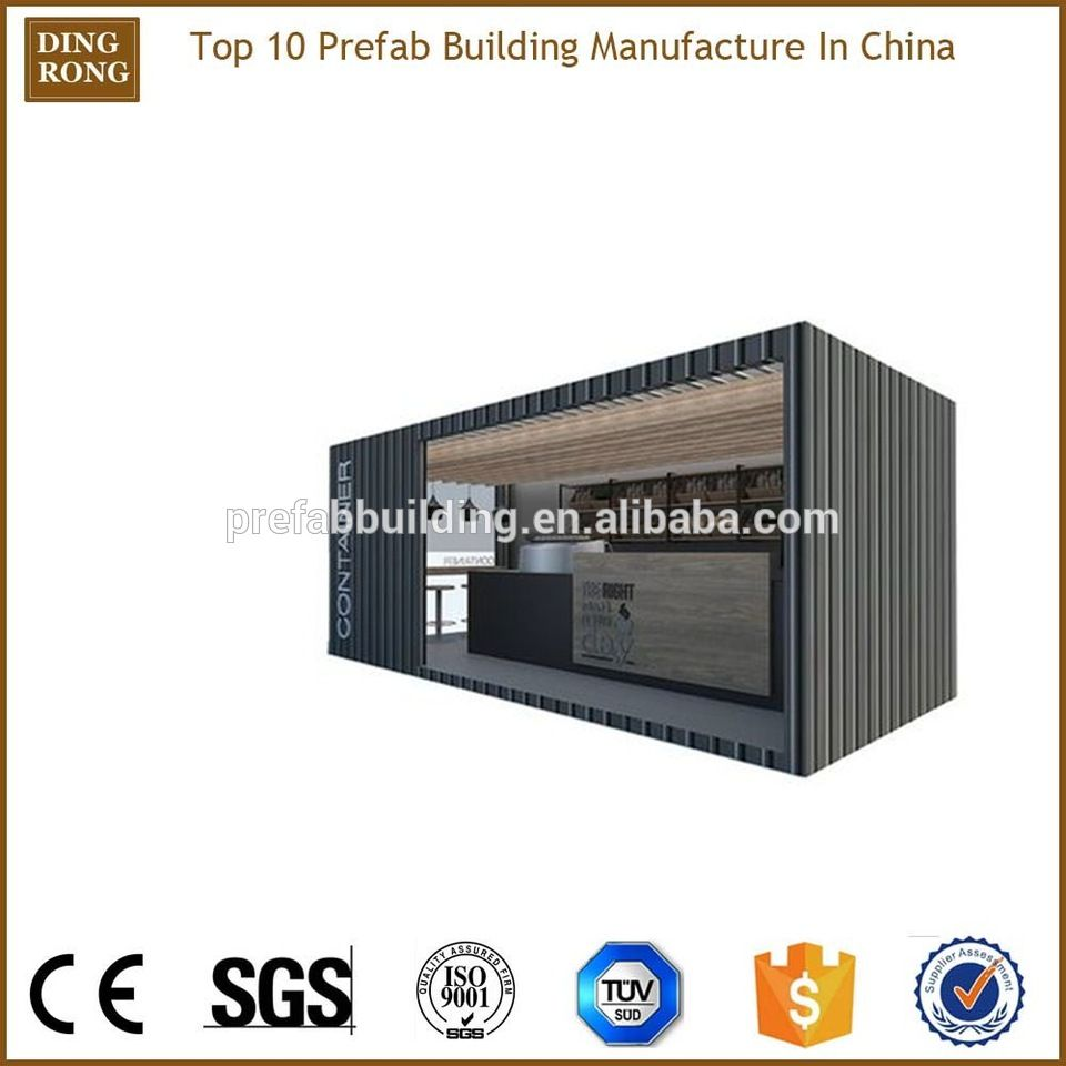 prefab modular mobile coffee shop shipping container cafe