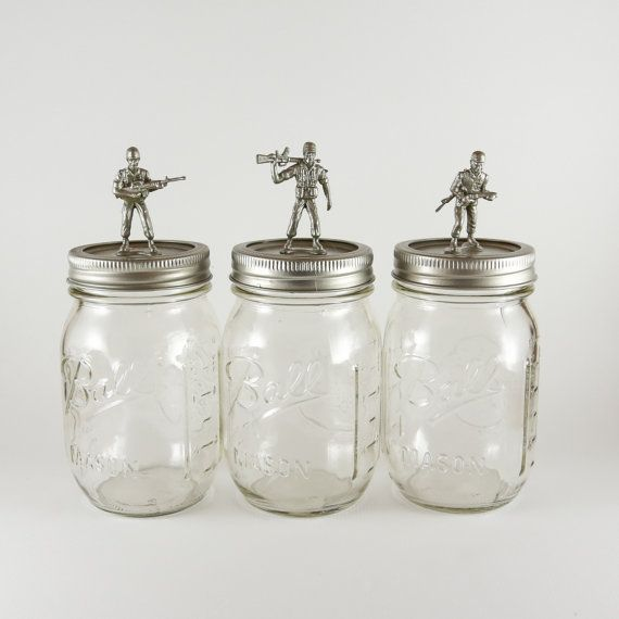 Military Ball Decorations: Could Prob Make For Candy Jars