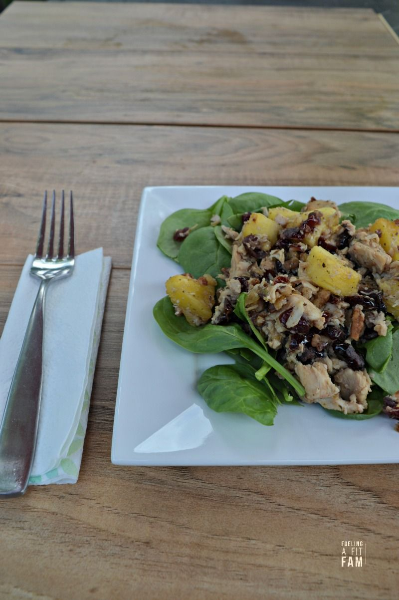 This Chicken-Pineapple-Cranberry-Walnut Salad is a healthy, easy one skillet…