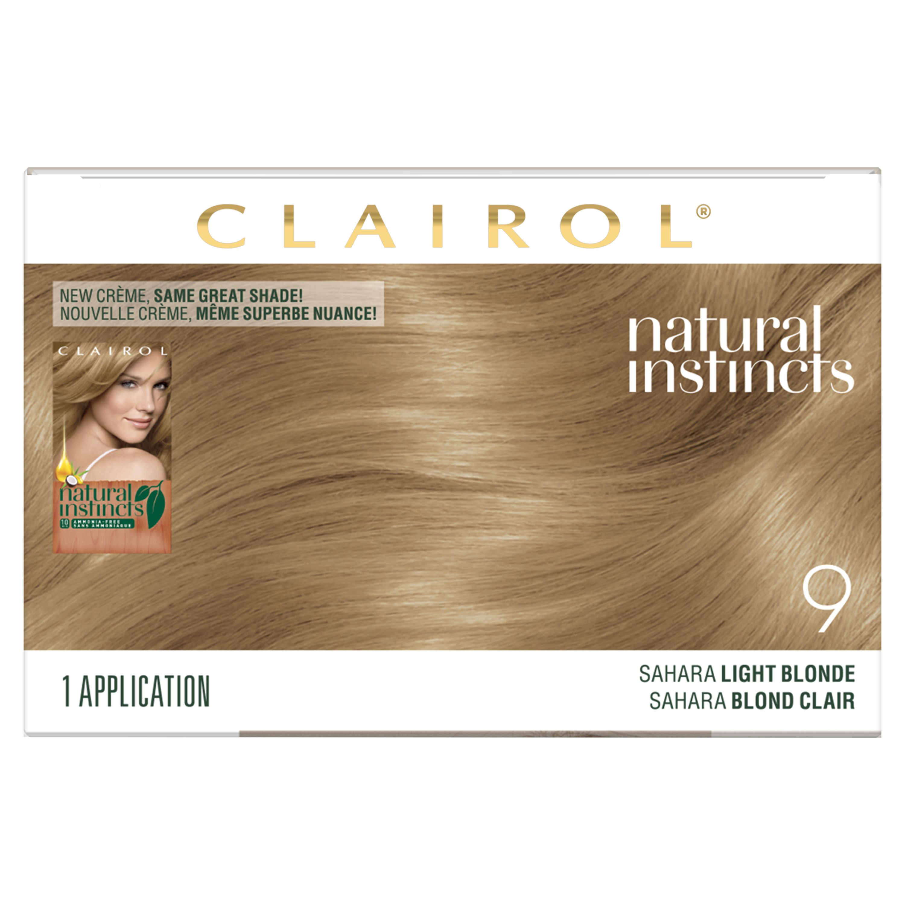 Clairol Natural Instincts Hair Color 9 Light Blonde Clairol Natural Instincts Non Permanent Hair Color Hair Color