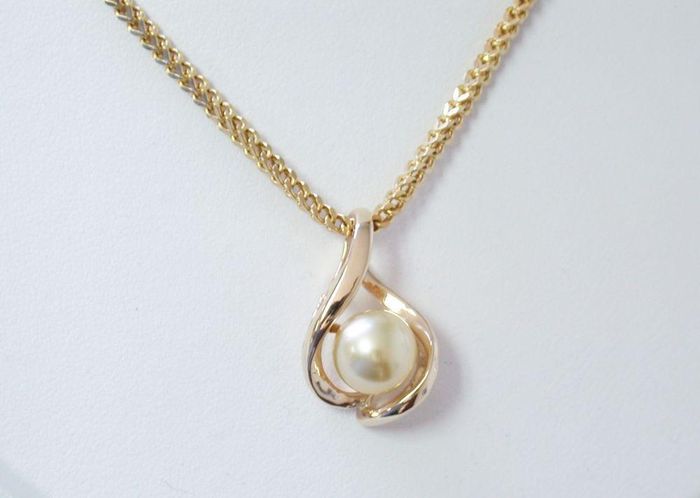 Cultured pearl omega slide or pendant set in 14k yellow gold cultured pearl omega slide or pendant set in 14k yellow gold aloadofball Images