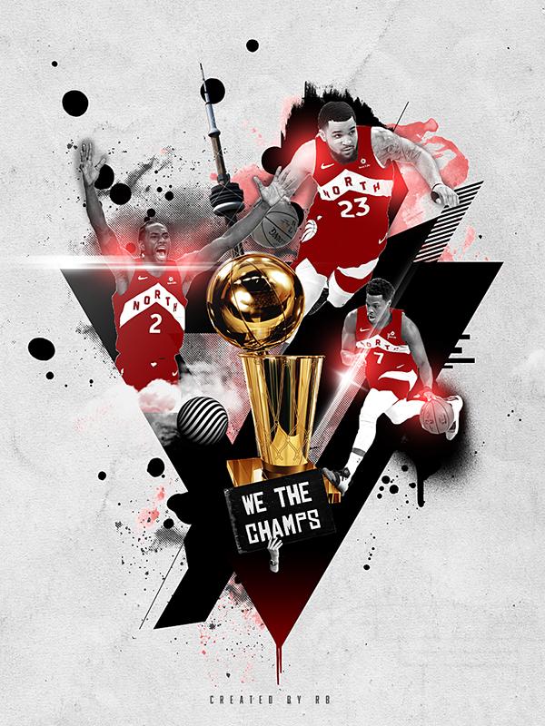 Toronto Raptors 2019 Nba World Champions On Behance Toronto Raptors Raptors Basketball Wallpaper