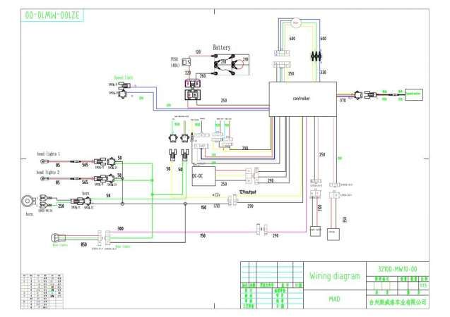 Taotao Electric Scooter Wiring Diagram Manual Guide